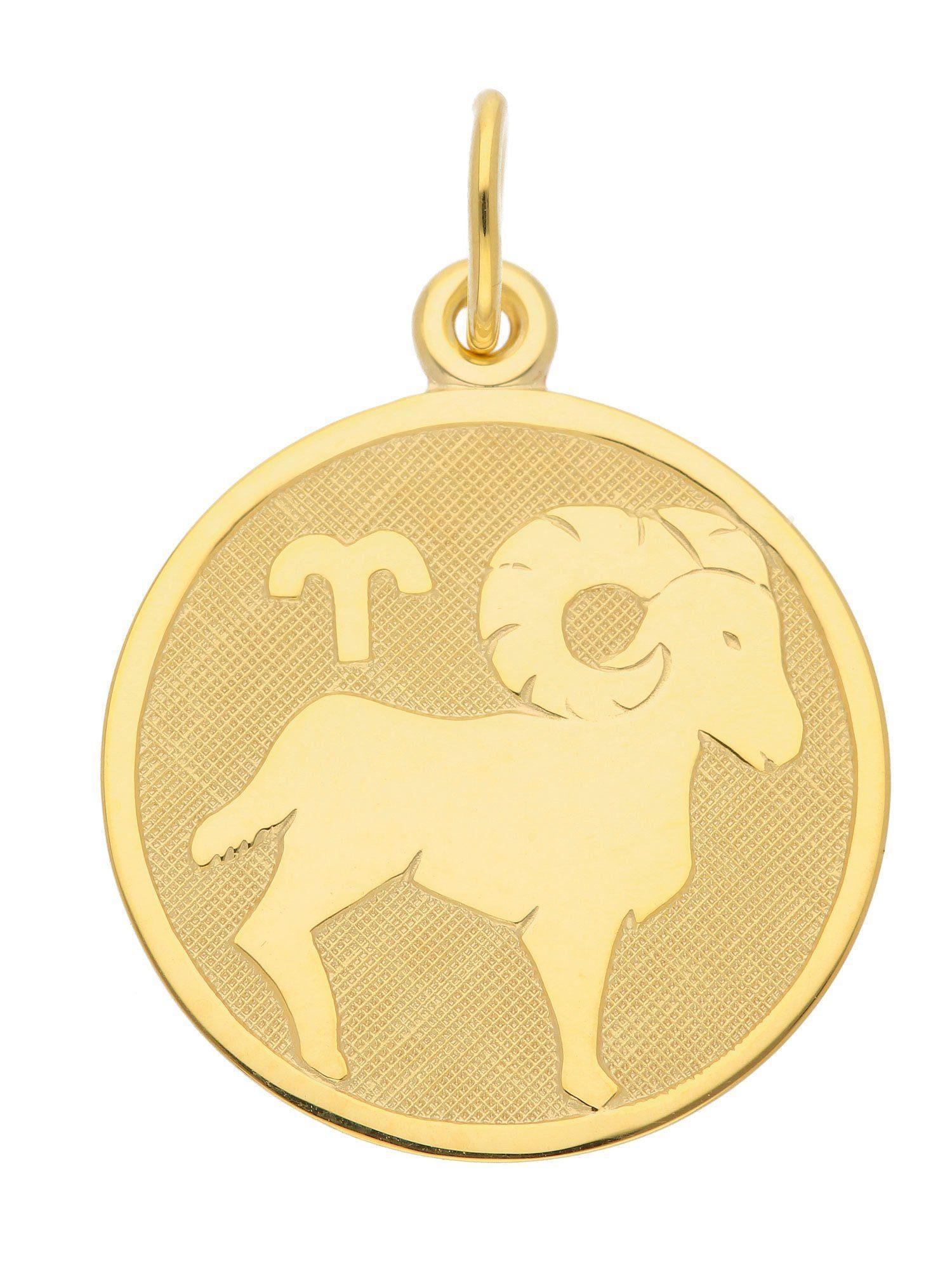 Adelia´s Kettenanhänger »Sternzeichen Gold Anhänger« Widder 8 k 333 Gelbgold Ø 1.6 cm