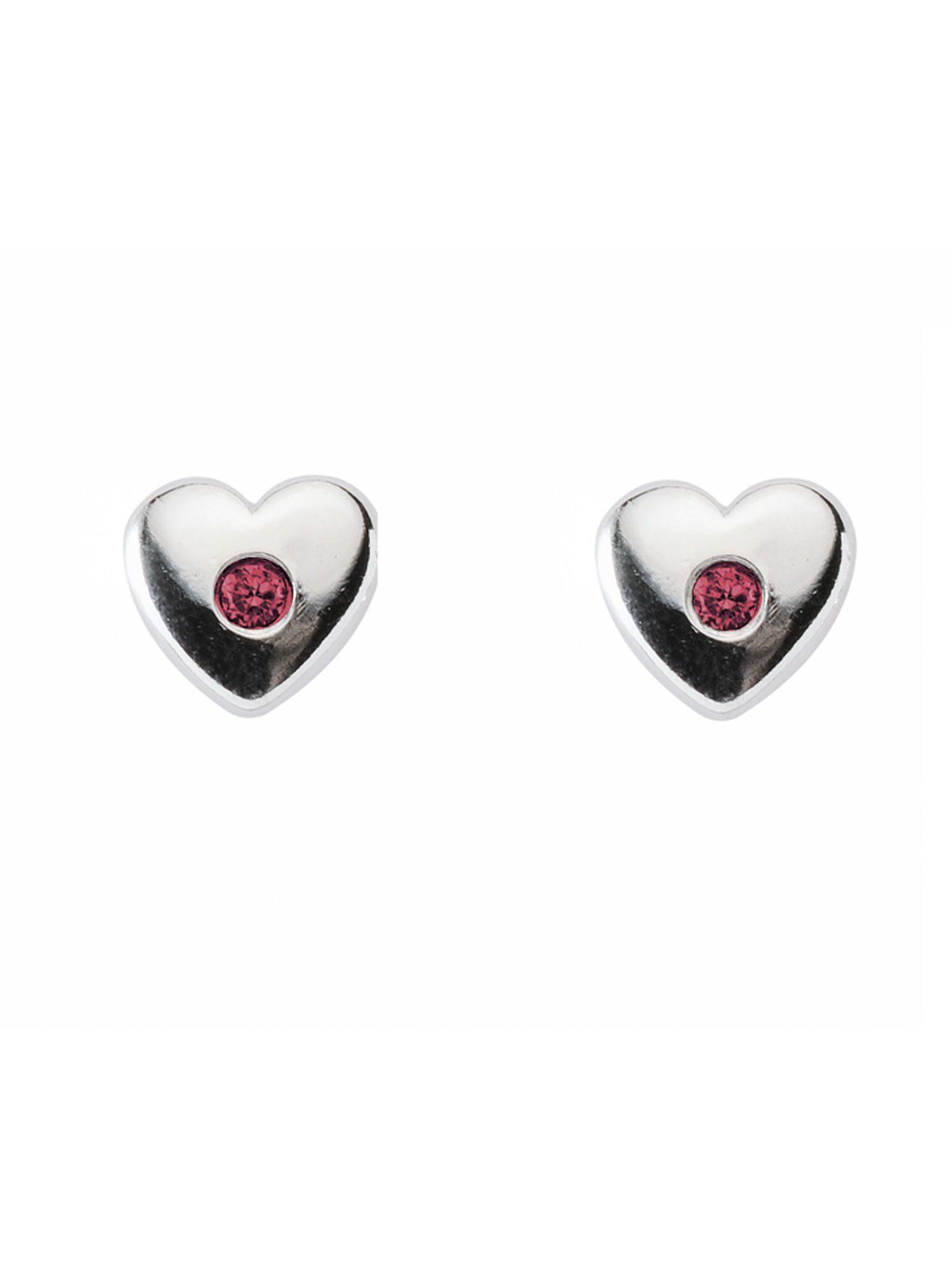 Adelia´s Paar Ohrstecker »Silber Ohrringe« Herz 925 Sterling Silber mit Zirkonia