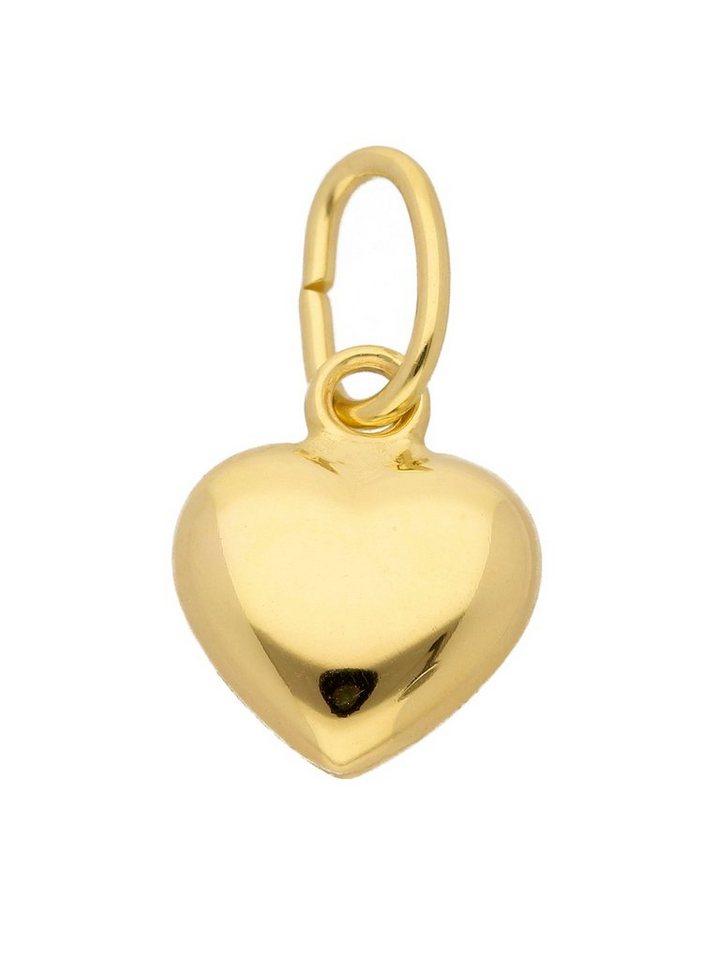 Adelia´s Kettenanhänger »Gold 14 k (585) Motiv - Anhänger« Herz 14 k 585 Gelbgold   Schmuck > Halsketten > Ketten ohne Anhänger   Goldfarben   Adelia´s