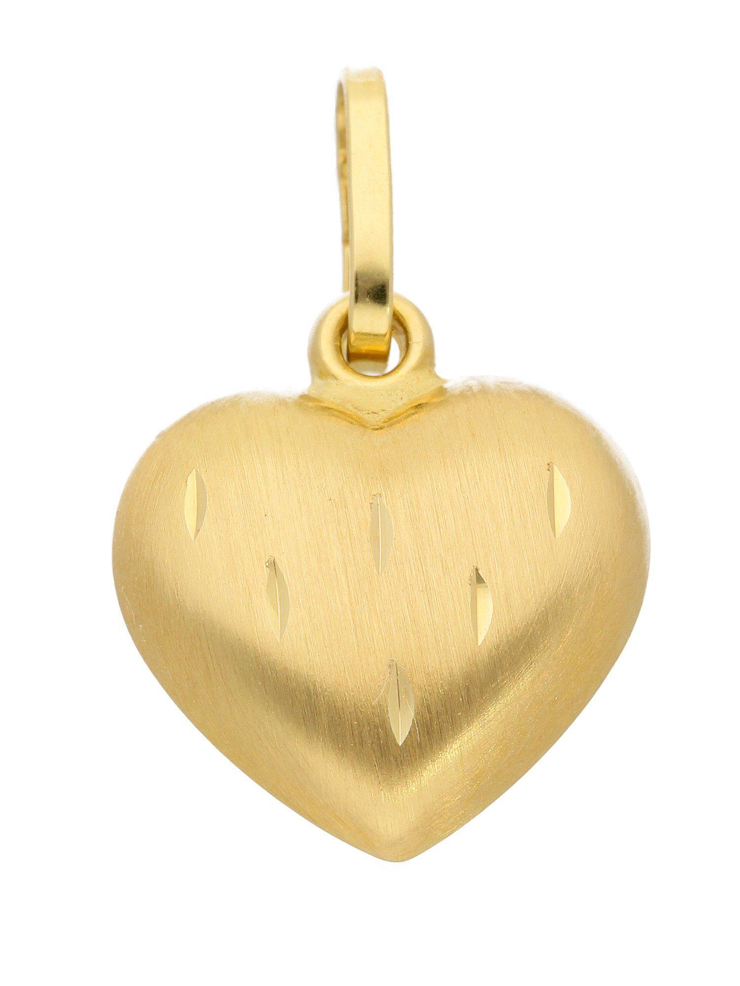 Adelia´s Kettenanhänger »Gold Anhänger« Herz 8 k 333 Gelbgold