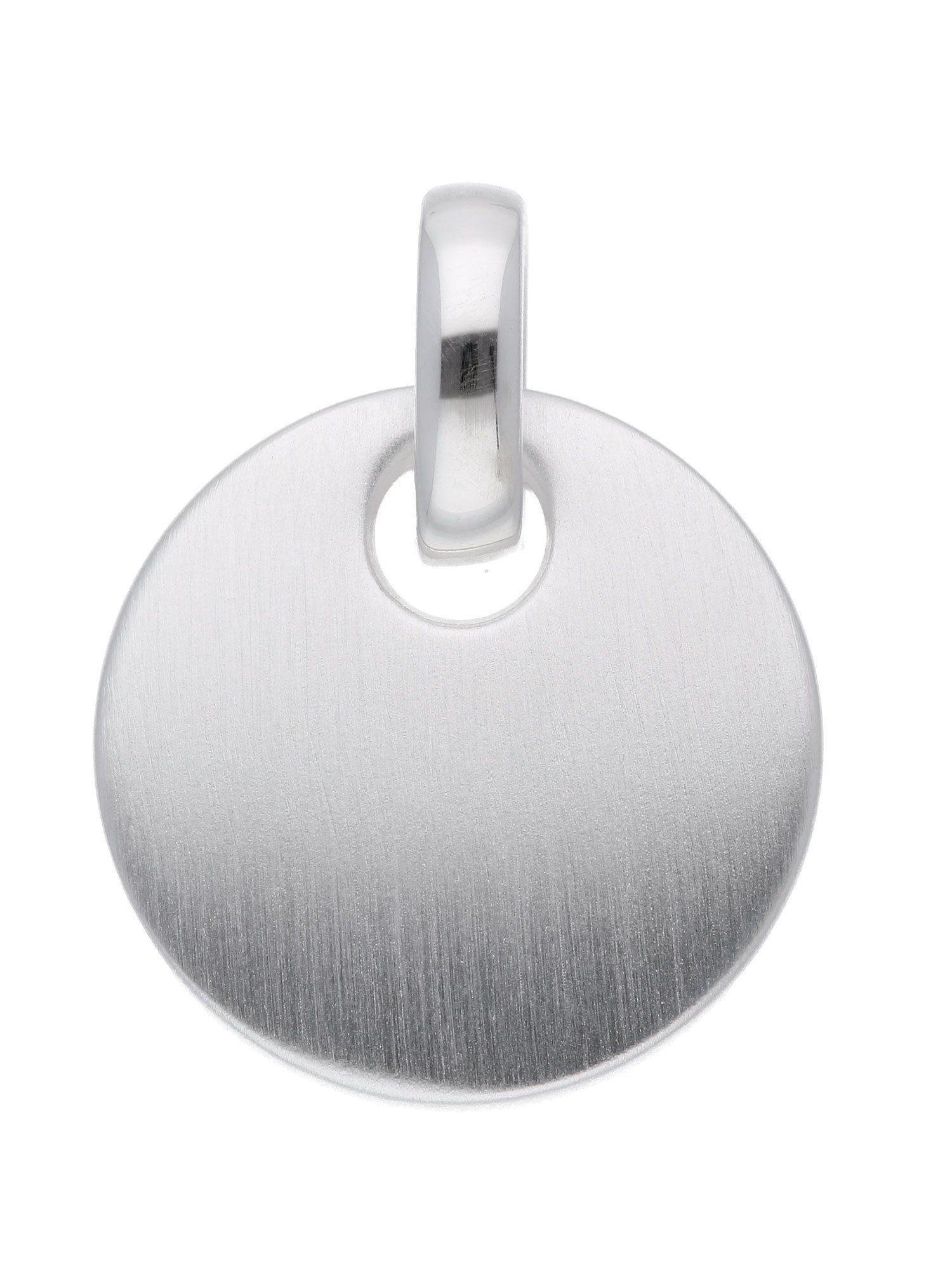 Adelia´s Kettenanhänger »Silber Gravurplatte« 925 Sterling Silber Ø 1.64 cm