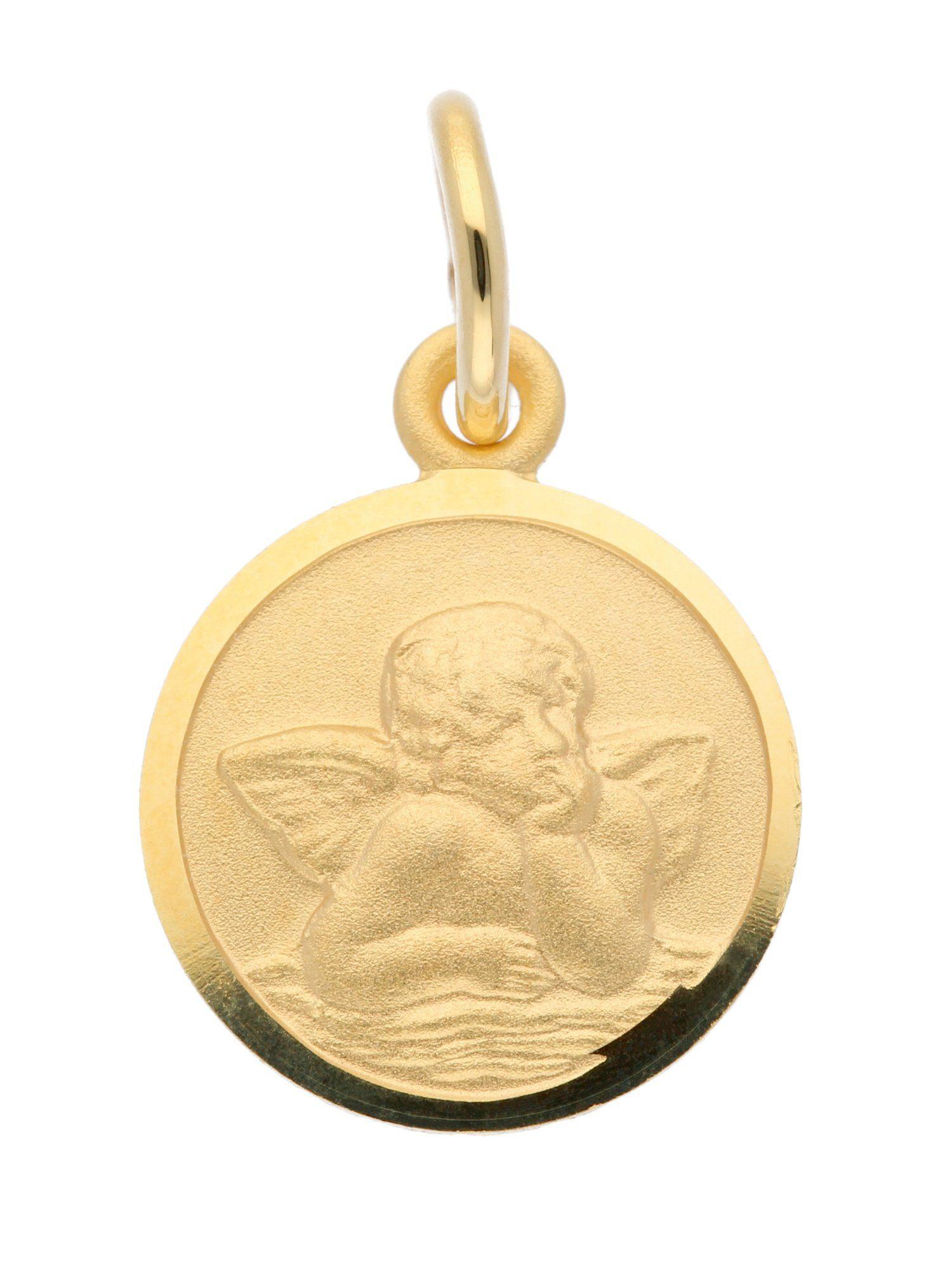 Adelia´s Kettenanhänger »Gold Anhänger« Amor 14 k 585 Gelbgold Ø 10 mm