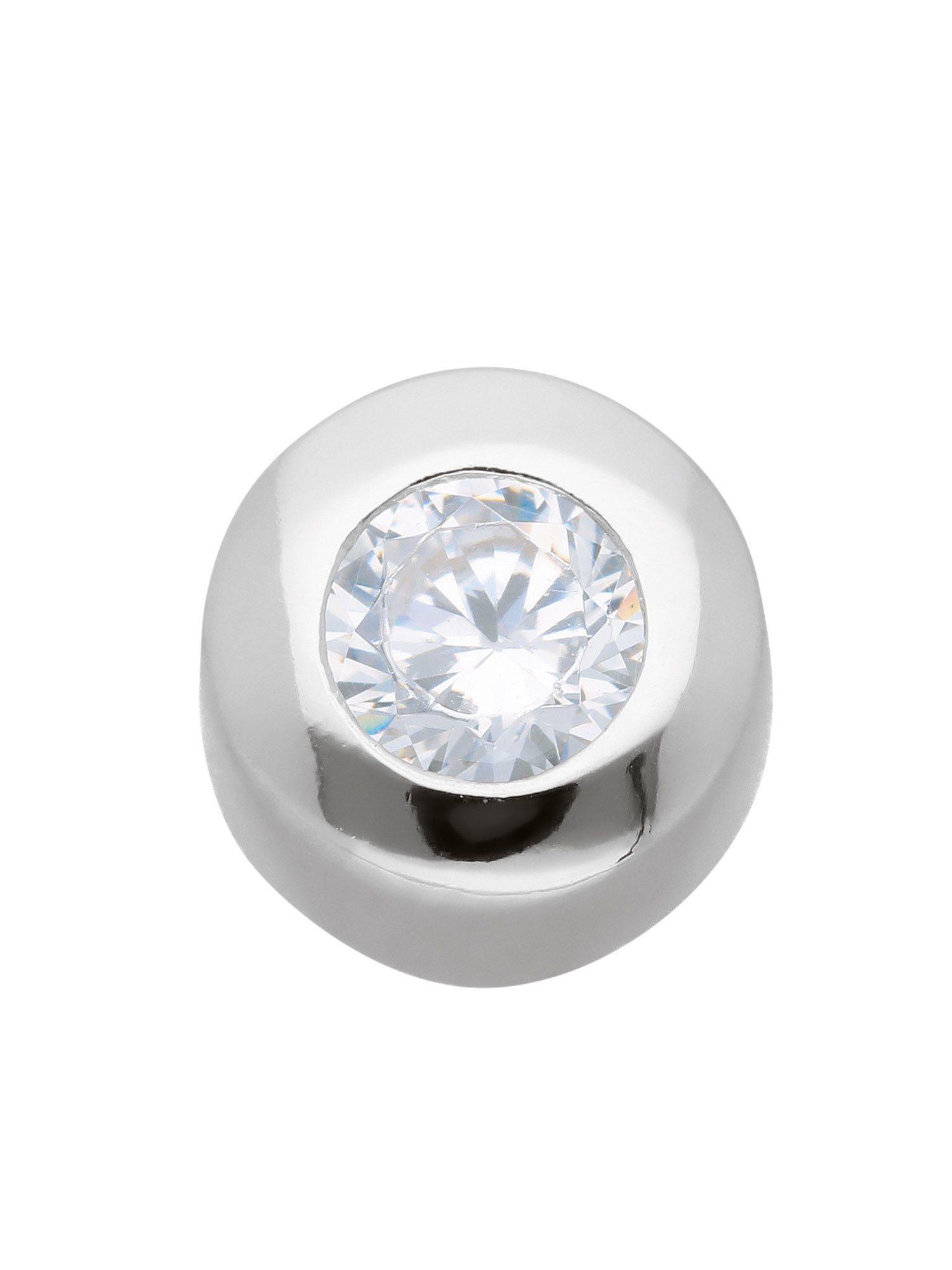 Adelia´s Kettenanhänger »Silber Anhänger« 925 Sterling Silber mit Zirkonia Ø 6.9 mm | Schmuck > Halsketten > Ketten ohne Anhänger | Adelia´s