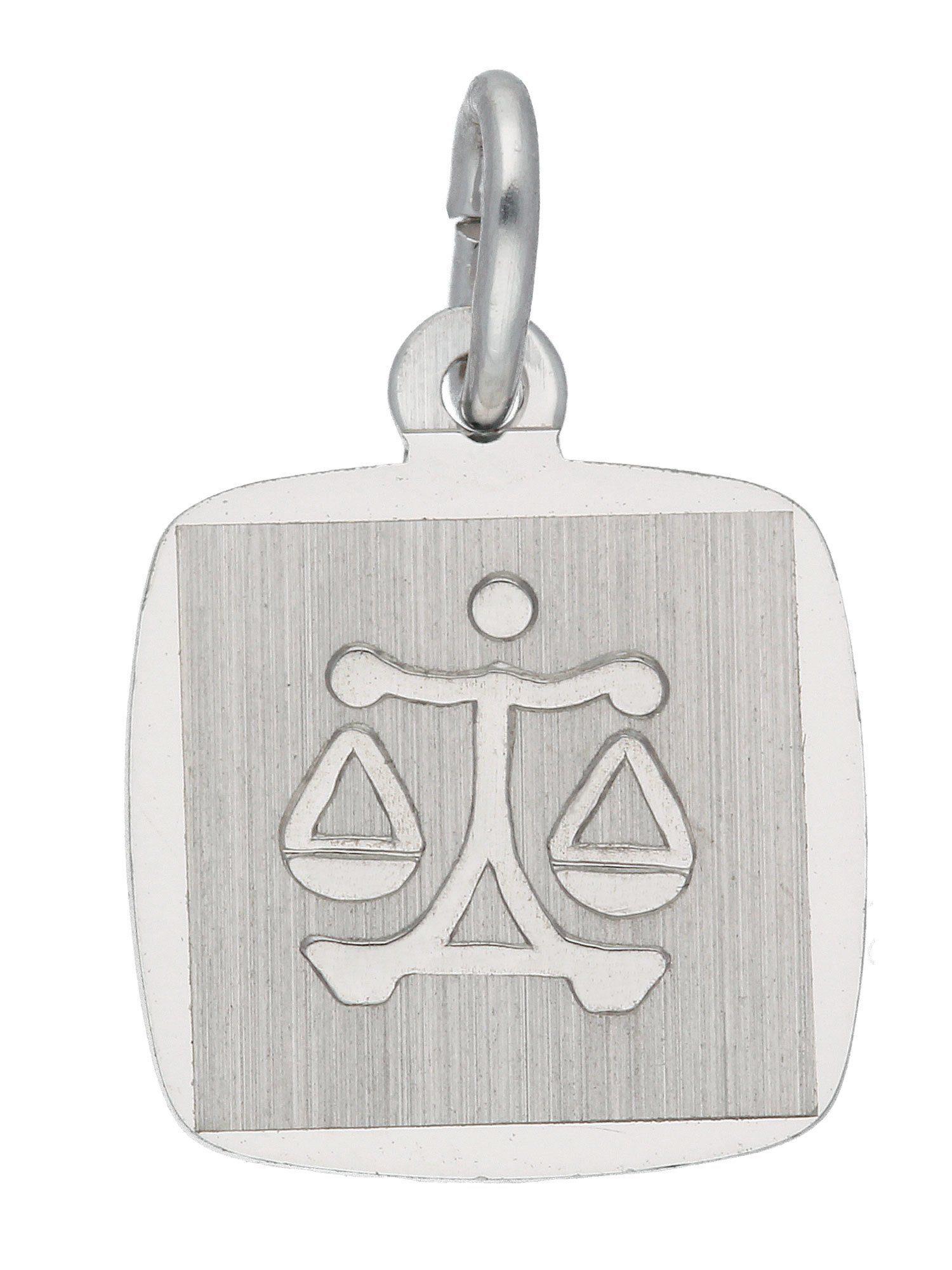 Adelia´s Kettenanhänger »Sternzeichen Silber Anhänger« Waage 925 Sterling Silber