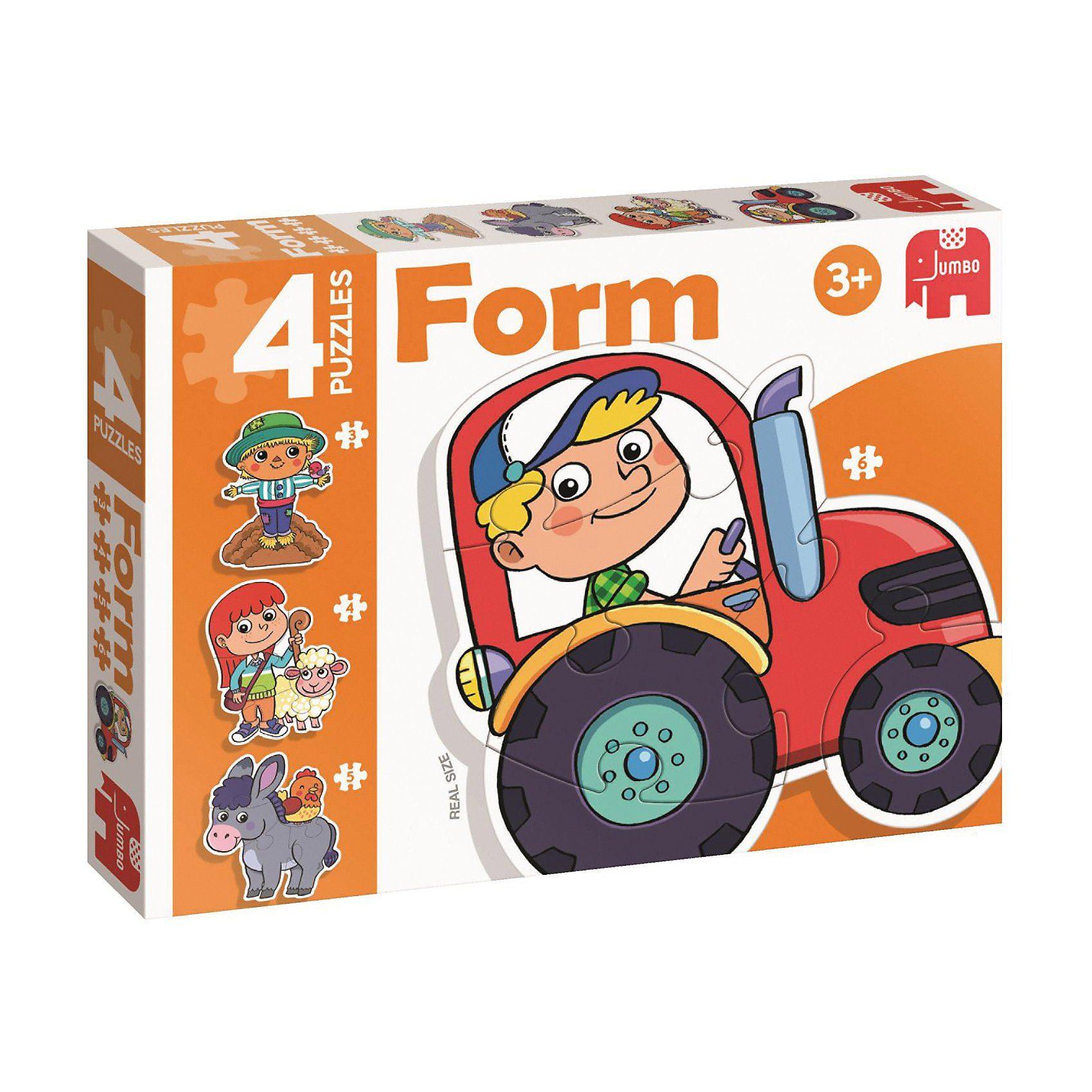 Jumbo Form-Puzzle - Bauernhof (3/4/5/6 Teile)