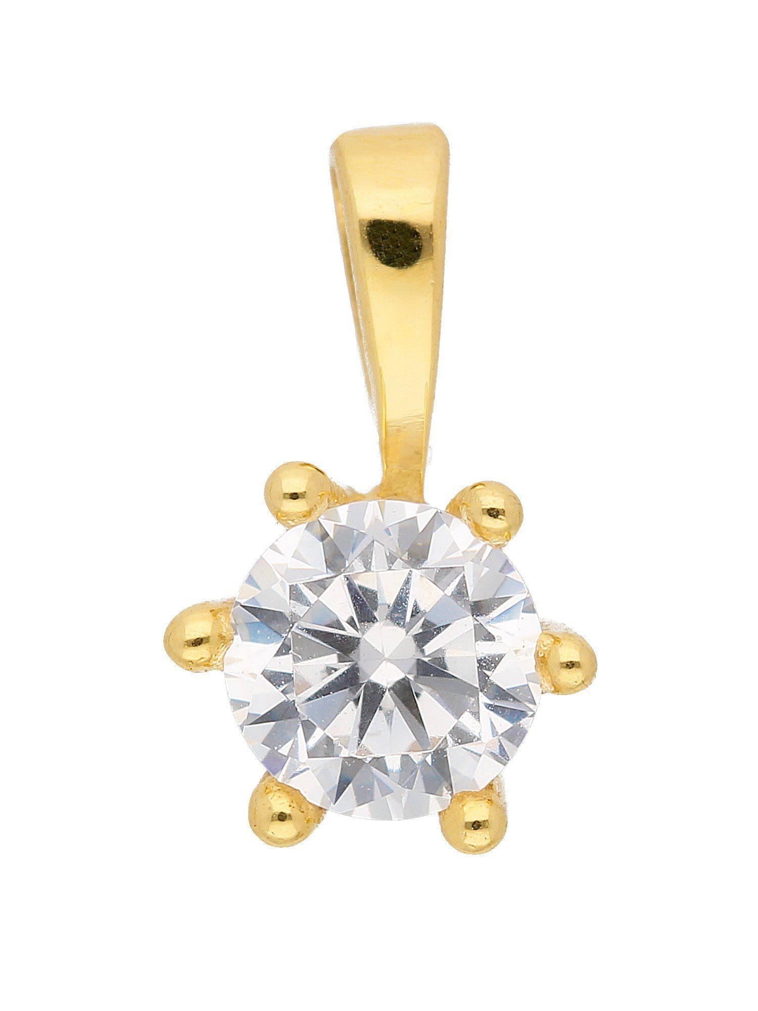 Adelia´s Kettenanhänger »Gold Anhänger« 8 k 333 Gelbgold mit Zirkonia Ø 4.7 mm