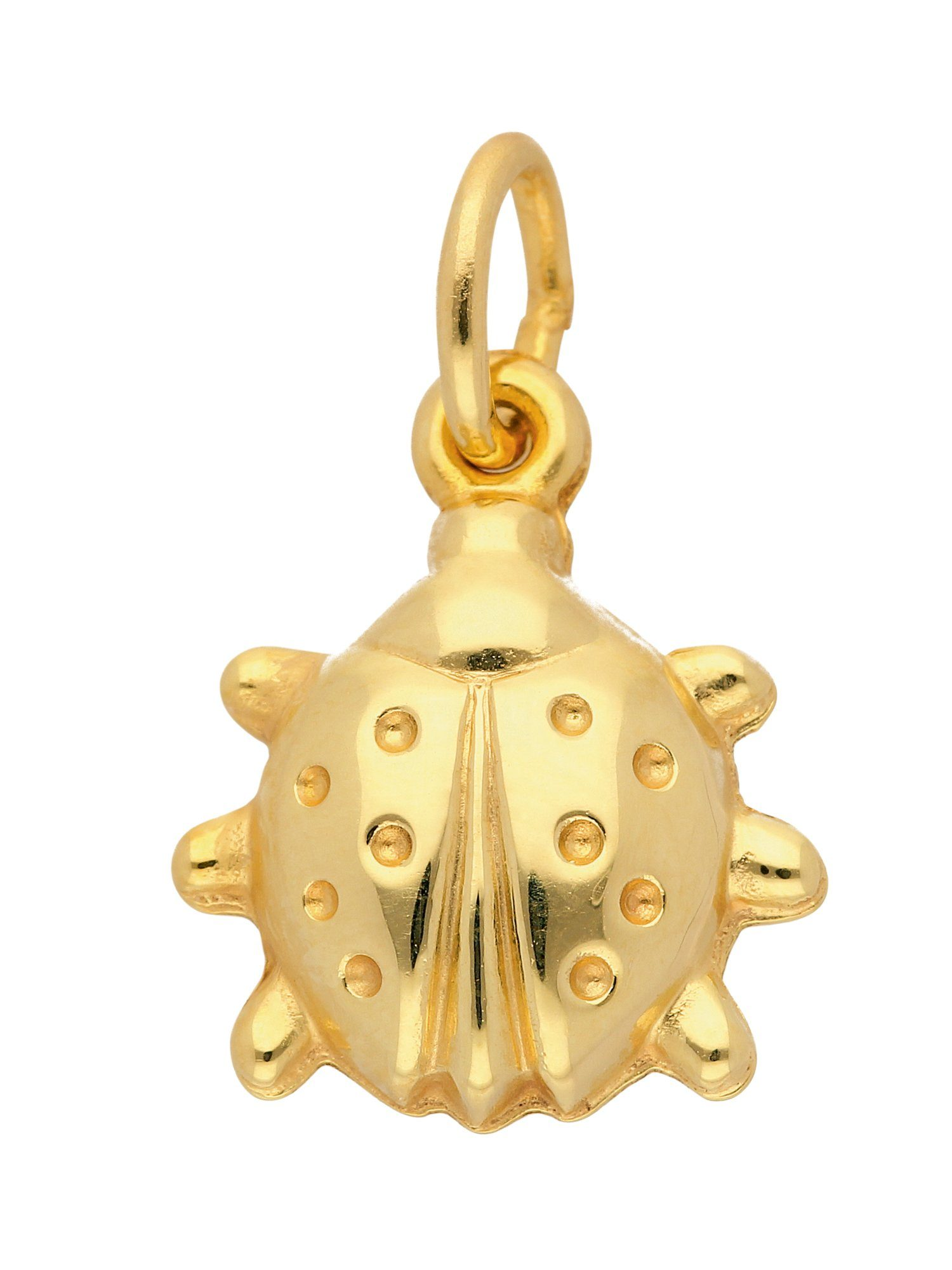 Adelia´s Kettenanhänger »Gold Anhänger« Marienkäfer 14 k 585 Gelbgold