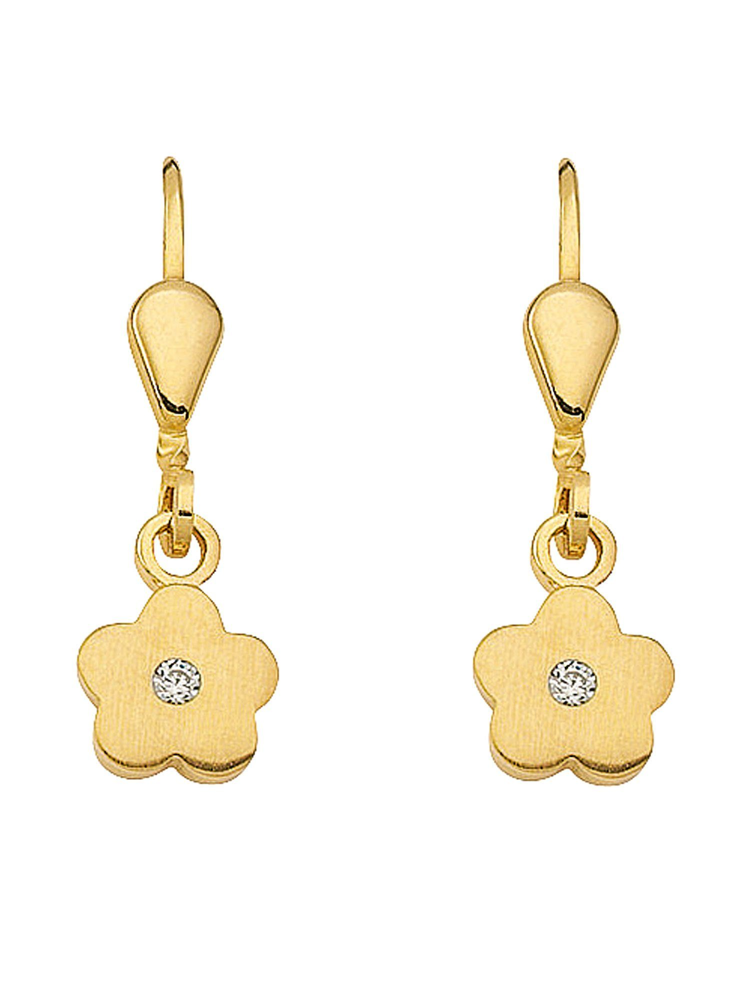 Adelia´s Paar Ohrhänger »Gold 8 k (333) Ohrringe - Ohrhänger« Blüte 8 k 333 Gelbgold mit Zirkonia
