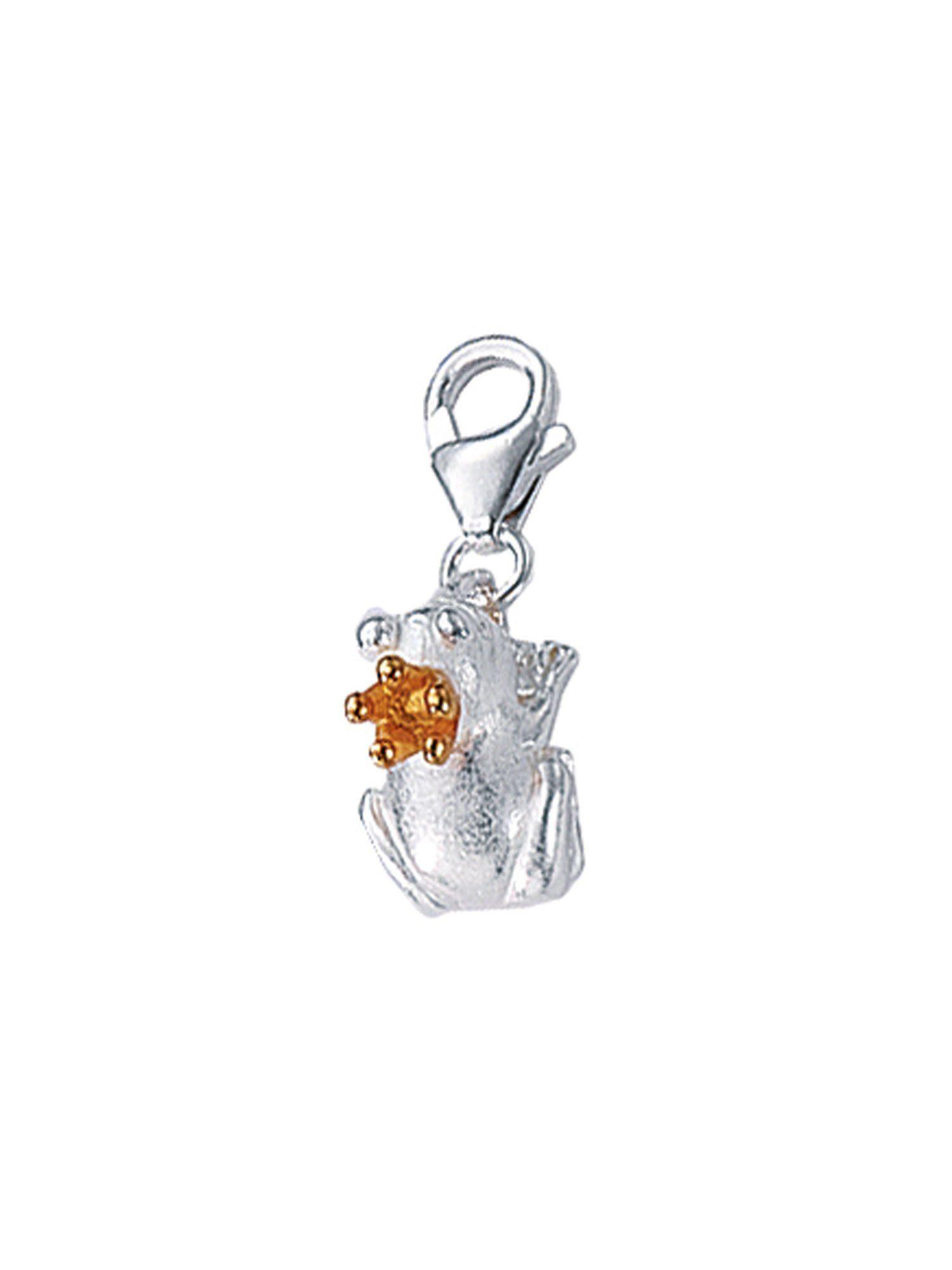 Adelia´s Charm-Einhänger »Silber Anhänger« Frosch 925 Sterling Silber vergoldet