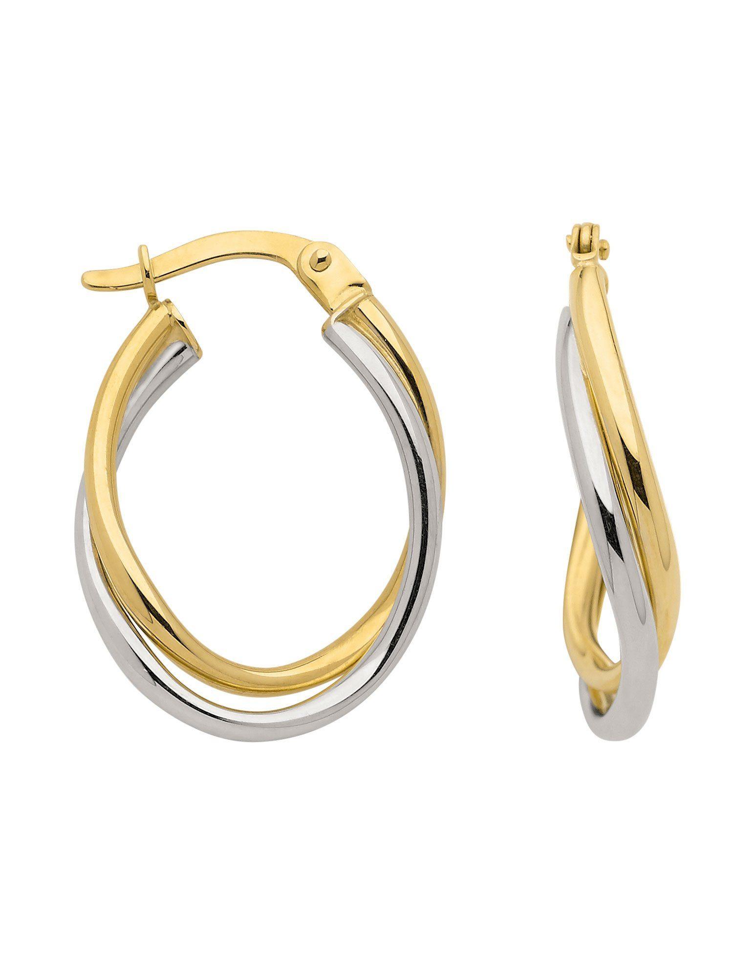 Adelia´s Paar Creolen »Gold Ohrringe« 8 k 333 Gelbgold