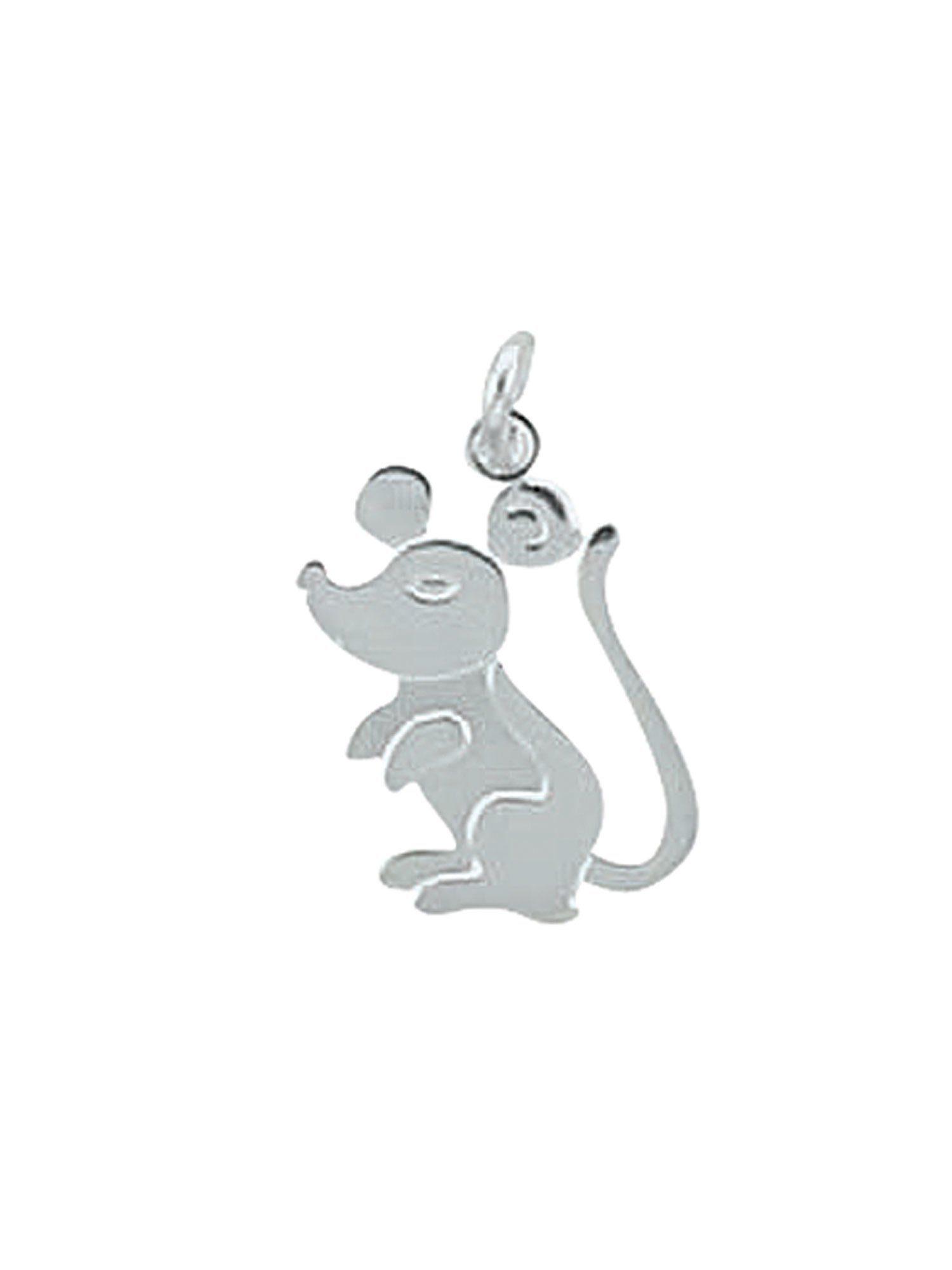Adelia´s Kettenanhänger »Silber Anhänger« Maus 925 Sterling Silber