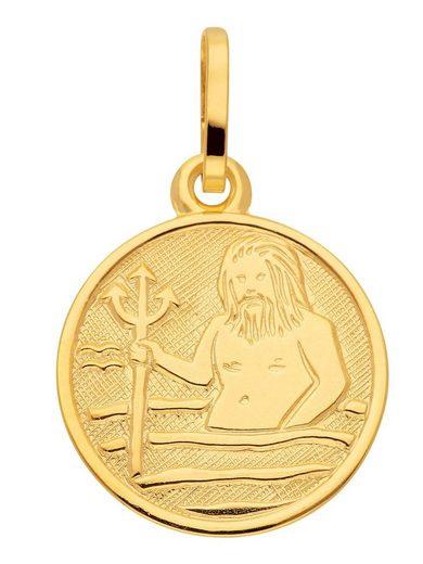 Adelia´s Kettenanhänger »Gold 8 k (333) Sternzeichen Anhänger«, Wassermann 8 k 333 Gelbgold Ø 1.18 cm