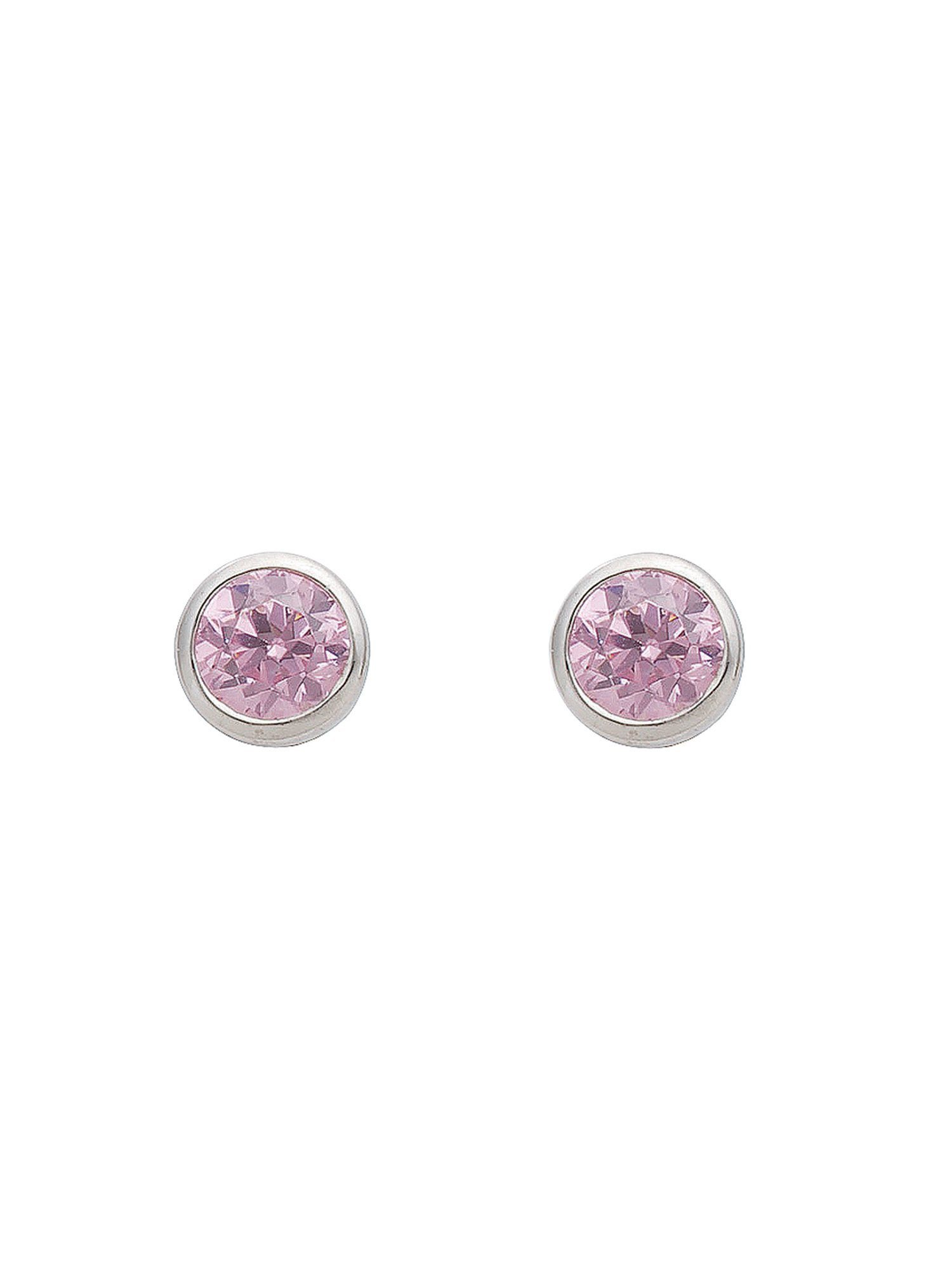 Adelia´s Paar Ohrstecker »Silber Ohrringe« 925 Sterling Silber mit Zirkonia Ø 5 mm | Schmuck > Ohrschmuck & Ohrringe > Ohrstecker | Bunt | Adelia´s