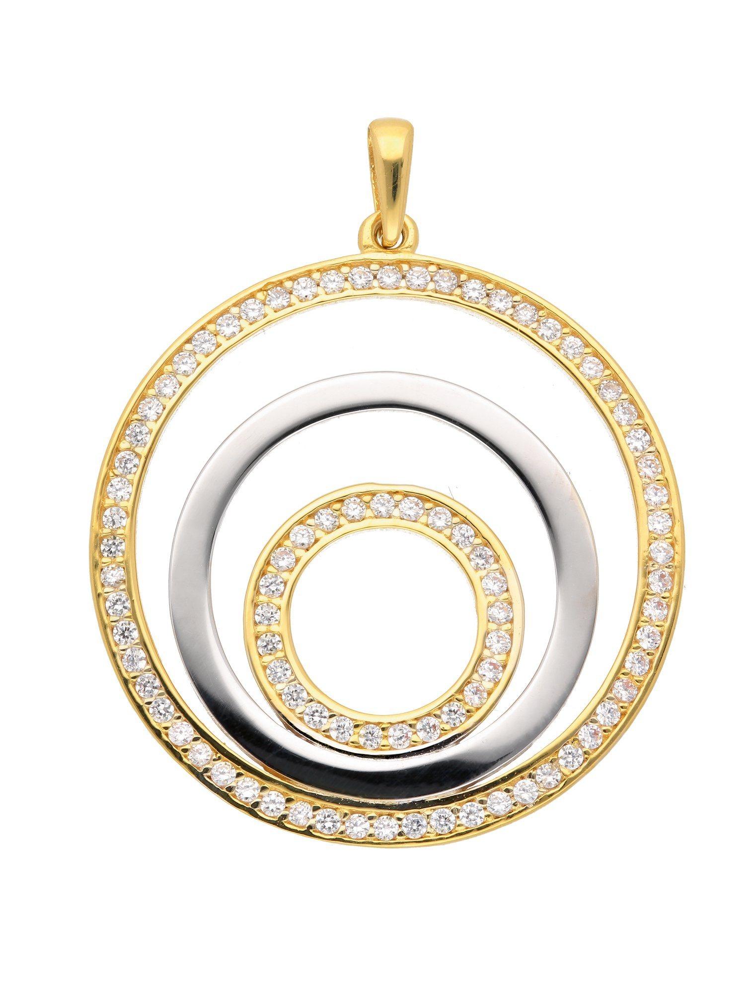 Adelia´s Kettenanhänger »Gold Anhänger«, 8 k 333 Gelbgold mit Zirkonia | Schmuck > Halsketten > Ketten ohne Anhänger | Adelia´s