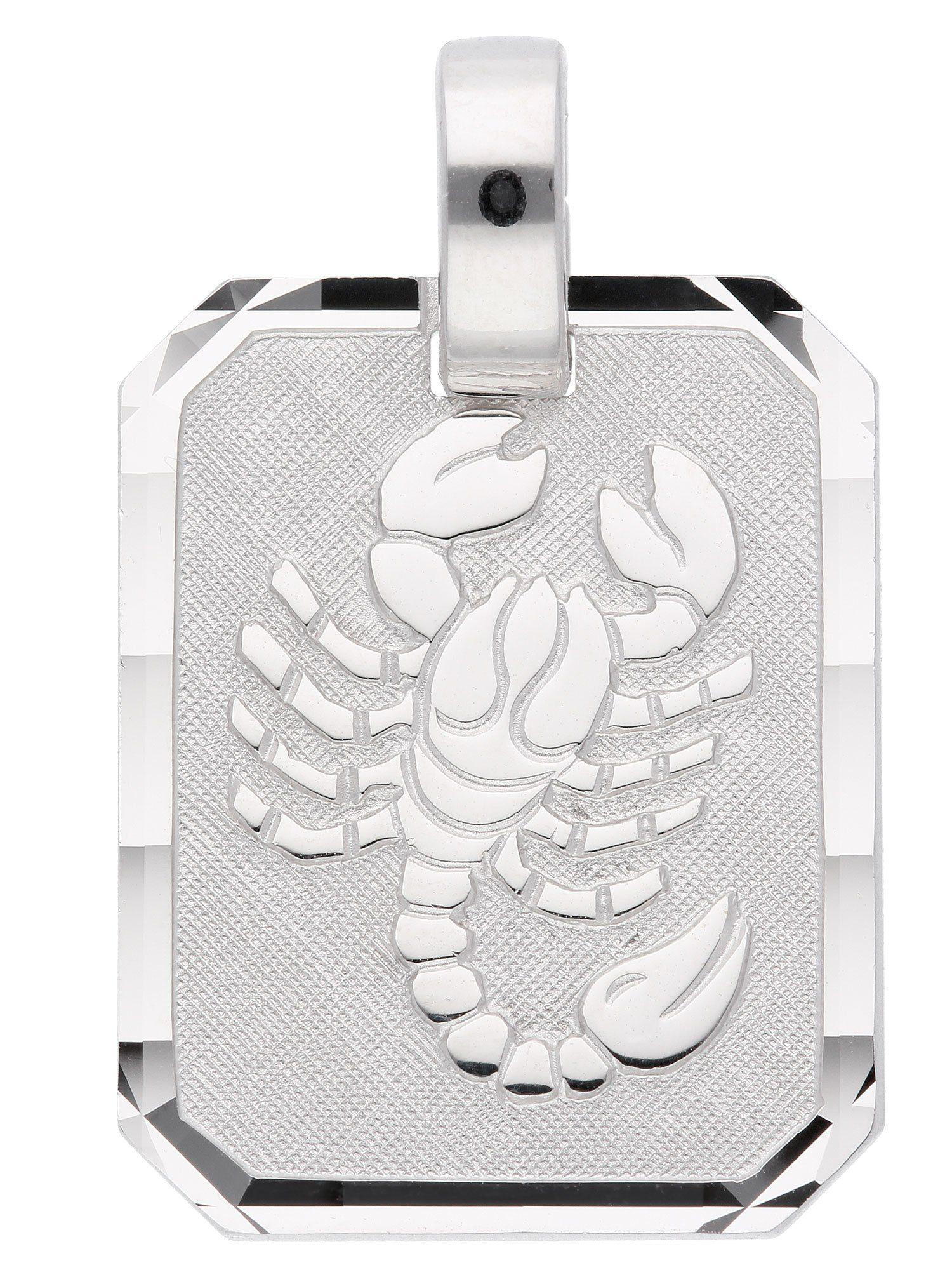 Adelia´s Kettenanhänger »Sternzeichen Silber Anhänger« Skorpion 925 Sterling Silber