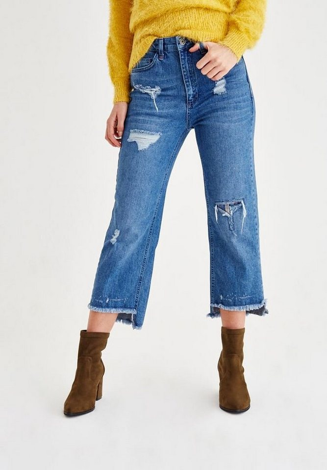 OXXO Destroyed-Jeans mit markanten Used Details   Bekleidung > Jeans > Destroyed Jeans   Blau   Jeans   OXXO