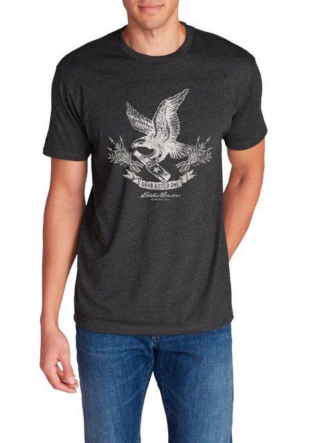 Herren Eddie Bauer T-Shirt T-Shirt – Screaming Eagle schwarz   04057682384375