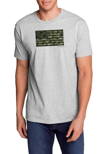 Herren Eddie Bauer T-Shirt T-Shirt – Camo Flag grau   04057682384320