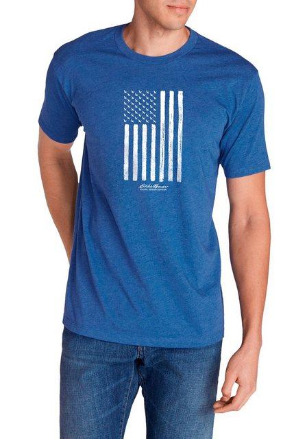 Herren Eddie Bauer T-Shirt T-Shirt – Goose Flag blau   04057682384122