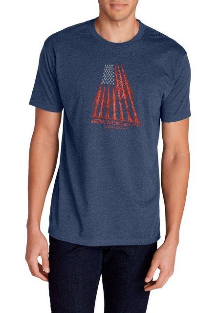 Herren Eddie Bauer T-Shirt T-Shirt – Forest Flag blau   04057682384221