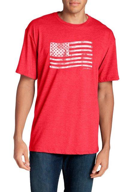 Herren Eddie Bauer T-Shirt T-Shirt – Classic Flag rot   04057682384276