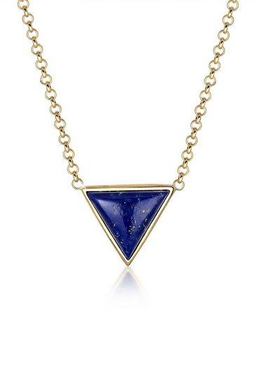 Elli Collierkettchen »Geo Dreieck Lapis Lazuli 925 Silber«