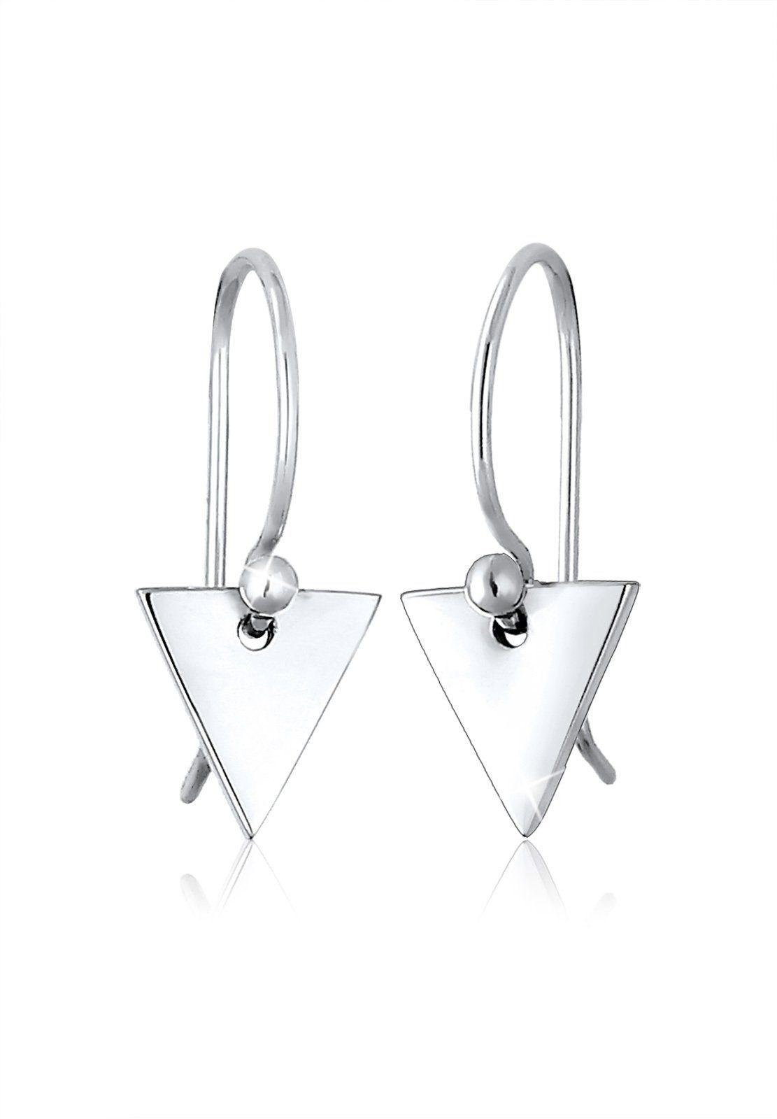 Elli Paar Ohrhänger »Dreieck Geo Minimal Trend 925 Silber«