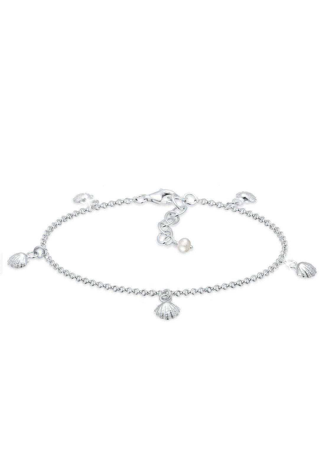 Elli Armband »Muschel Maritim Meer Sommer 925 Sterling Silber«