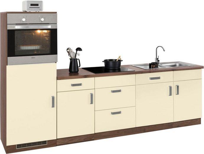 wiho Küchen Küchenzeile »Tacoma«, mit E-Geräten, Breite 280 cm