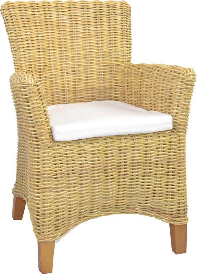 home affaire rattansessel inkl sitzkissen handarbeit aus rattan online kaufen otto. Black Bedroom Furniture Sets. Home Design Ideas