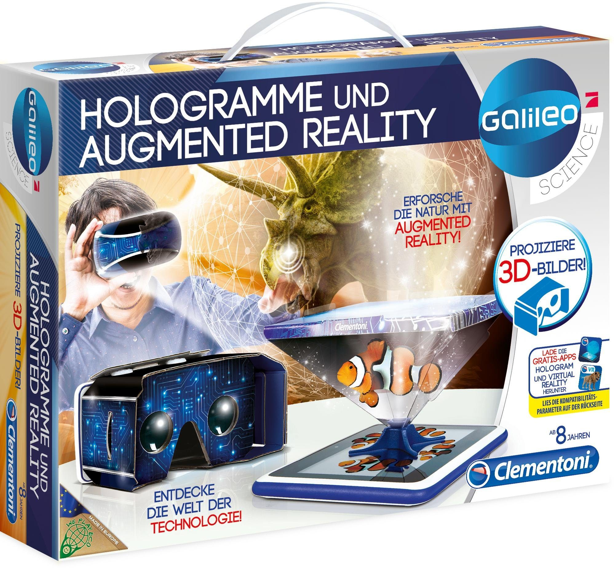 Clementoni Experimentierkasten, »Galileo Hologramme und Augmented Reality«
