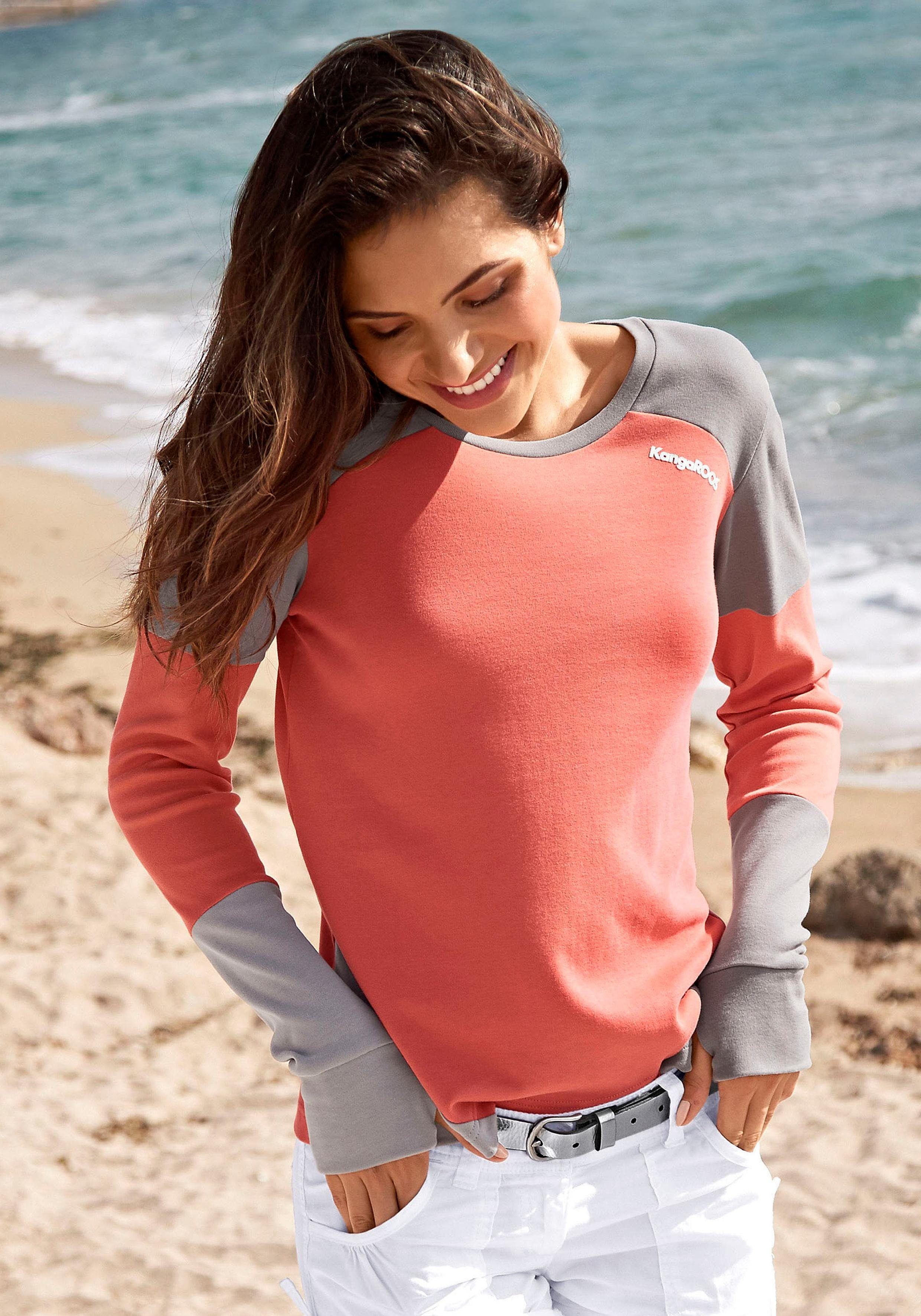 KangaROOS Sweatshirt im modischen Color Blocking
