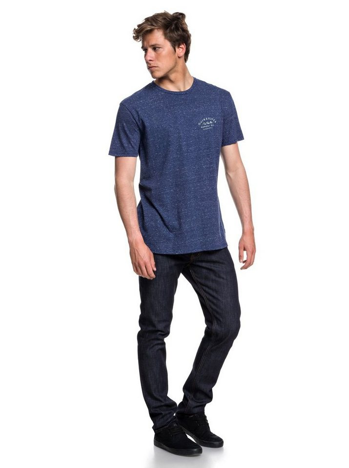 Herren Quiksilver T-Shirt Banzai Bar blau | 03613373883810