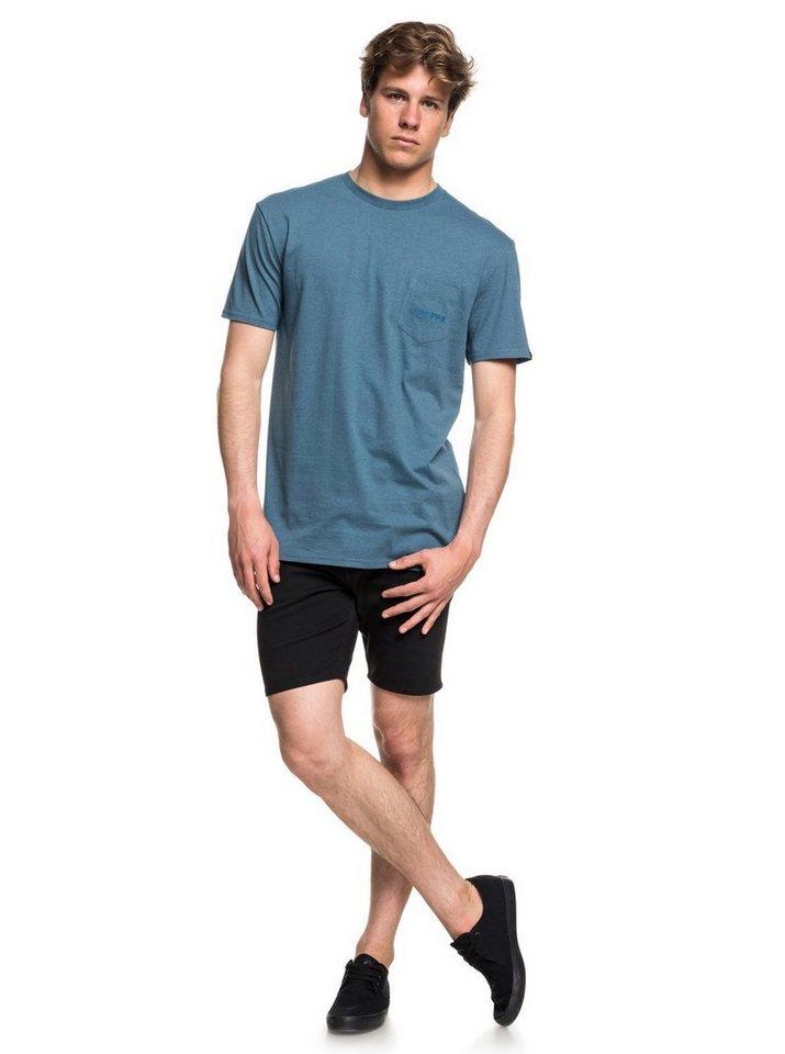 Herren Quiksilver Pocket-T-Shirt The Stitch Up blau | 03613373885494