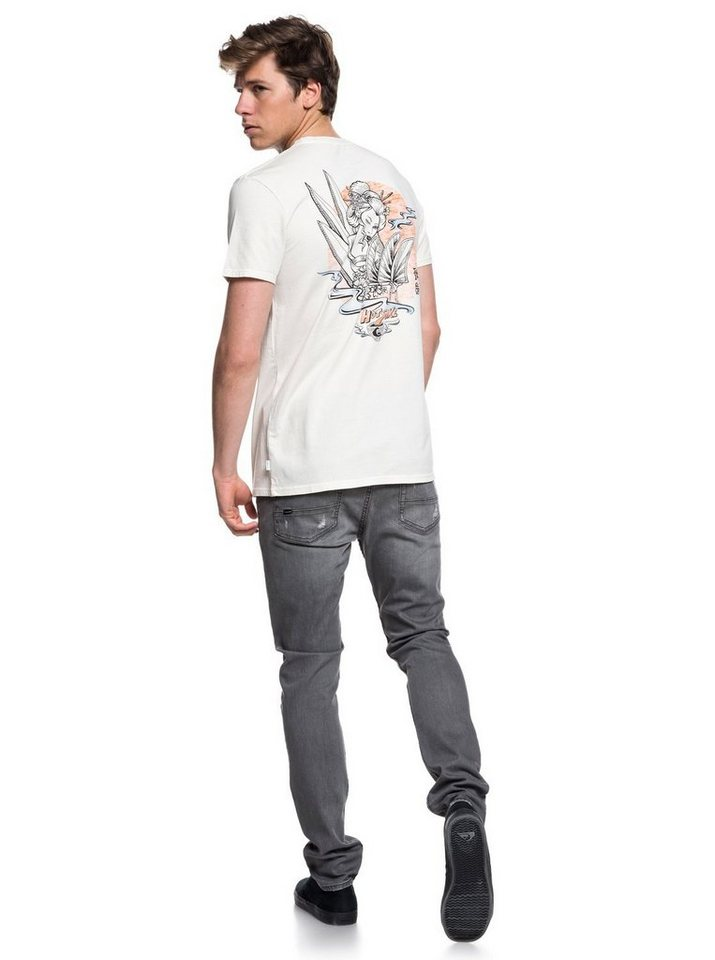 Herren Quiksilver T-Shirt Hot Sake braun | 03613373903495