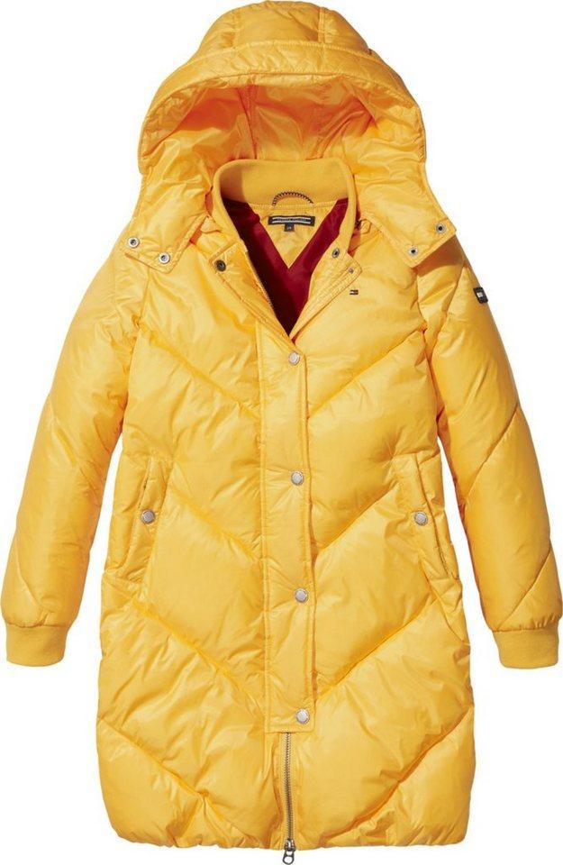 großer Rabatt neues Design Einkaufen Tommy Hilfiger Mantel »LONG CHEVRON PUFFER COAT« | OTTO