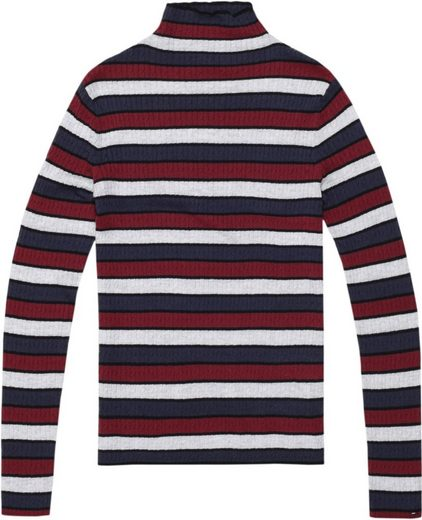 Tommy Jeans Pullover »TJW FINE CABLE STRIPE SWEATER«