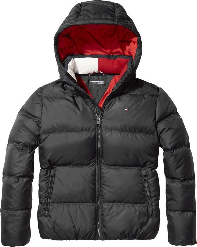 tommy hilfiger jacke essential basic down jacket. Black Bedroom Furniture Sets. Home Design Ideas