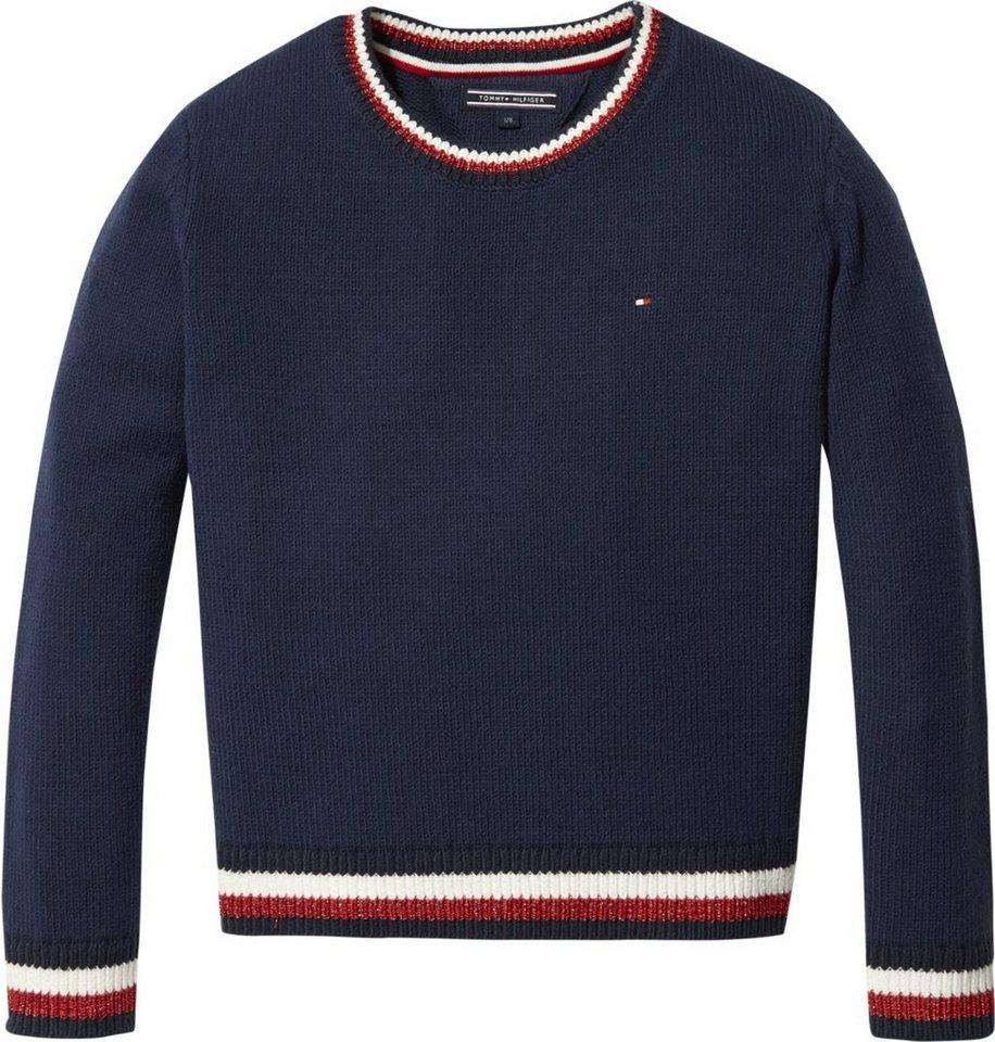 designer fashion 72006 823df Tommy Hilfiger Pullover »ESSENTIAL STRIPE RIB SWEATER« online kaufen | OTTO