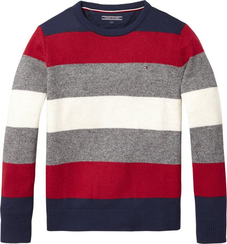Tommy Hilfiger Pullover »MULTI COLOR STRIPE SWEATER« online kaufen ... ed8b31a3d9
