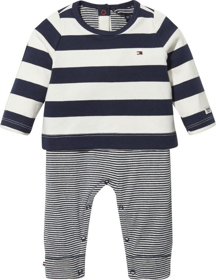 tommy hilfiger strampler baby combi stripe coverall online kaufen otto. Black Bedroom Furniture Sets. Home Design Ideas