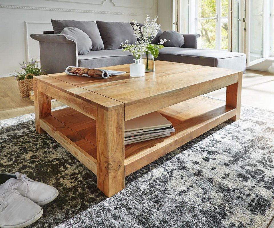 delife wohnzimmertisch indra akazie natur 120x70 massiv online kaufen otto. Black Bedroom Furniture Sets. Home Design Ideas