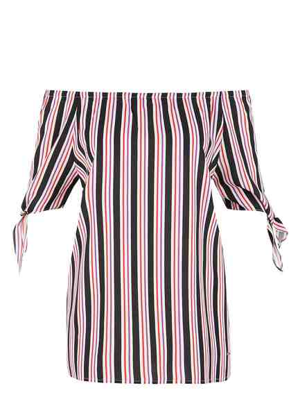 TRIANGLE Off Shoulder-Bluse mit Bow-Details