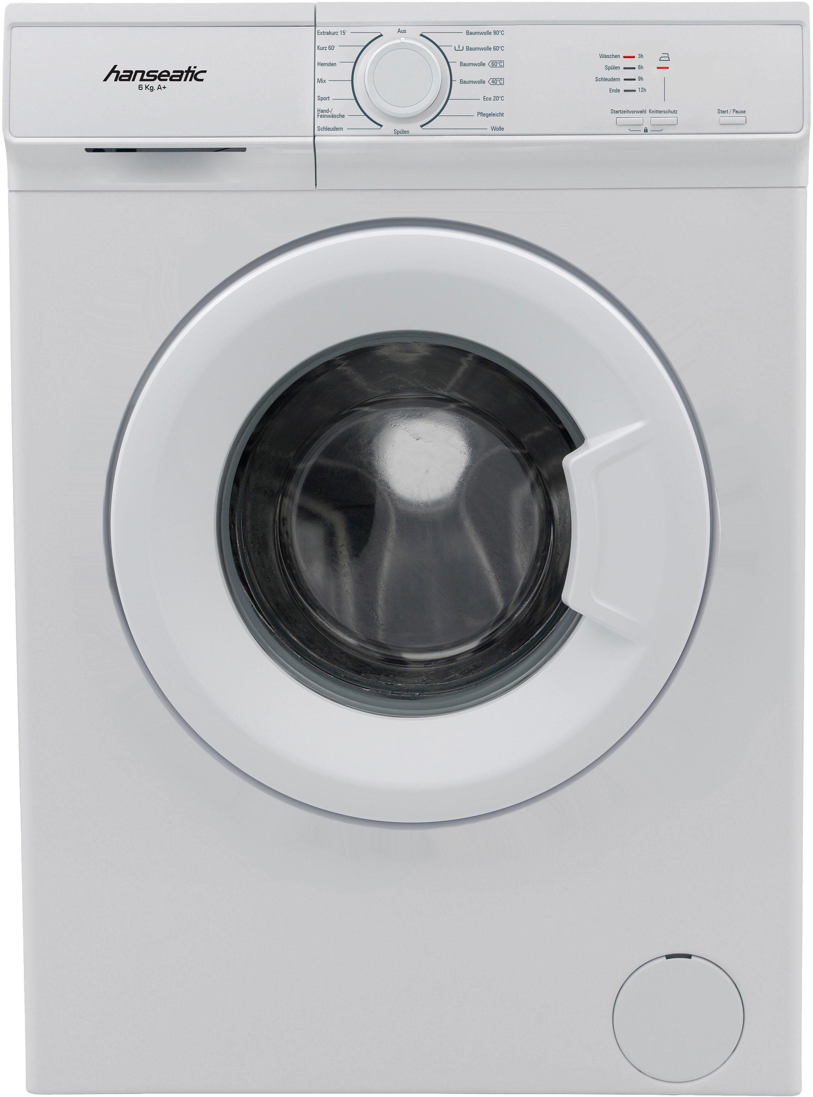 Hanseatic Waschmaschine HWM610A1, 6 kg, 1000 U/Min
