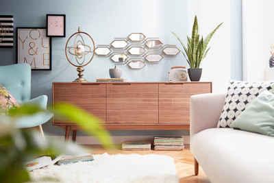 PBJ Sideboard »Curve«, walnut, im nordischen Design
