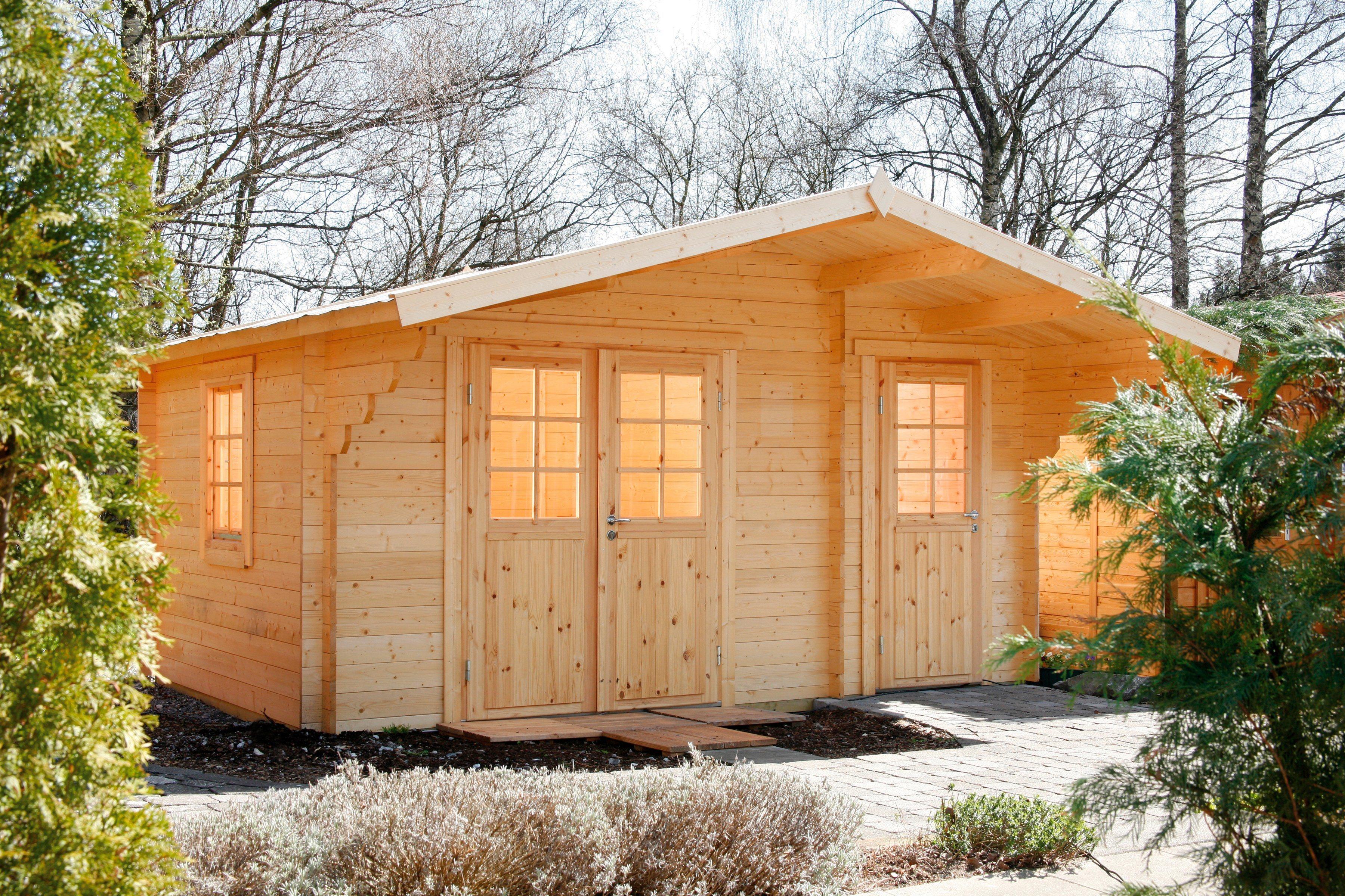 WOLFF Gartenhaus »Caro 34 Klassik«, BxT: 486x460 cm | Garten > Gartenhäuser | Wolff