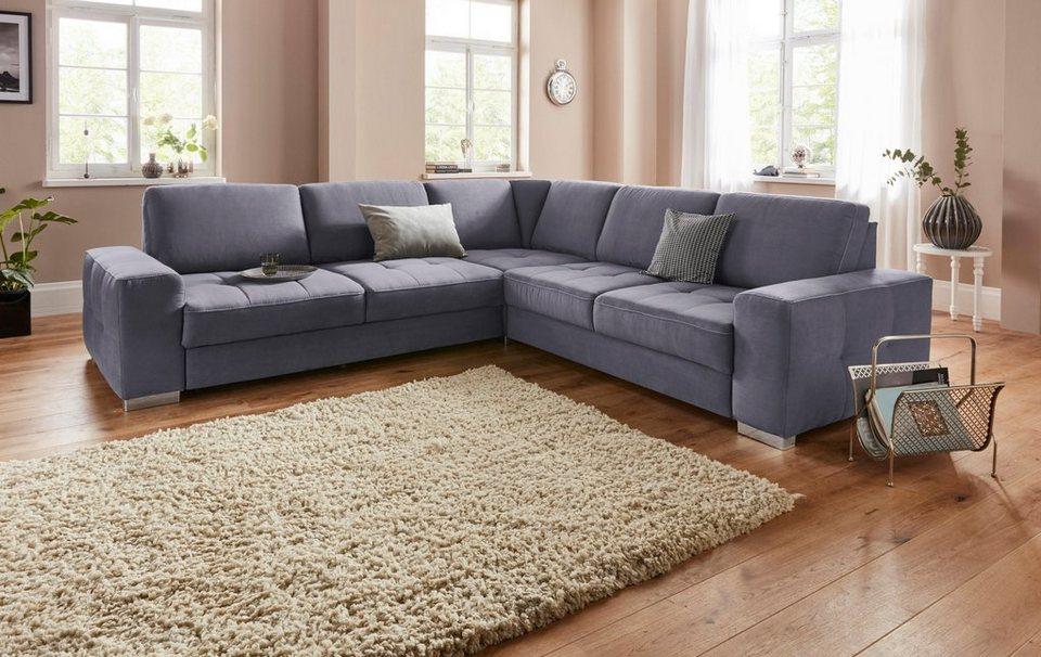 sit more ecksofa mit federkern und sitztiefenverstellung. Black Bedroom Furniture Sets. Home Design Ideas