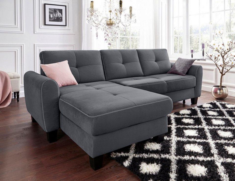 sit more polsterecke mit federkern wahlweise mit bettfunktion und bettkasten online kaufen otto. Black Bedroom Furniture Sets. Home Design Ideas