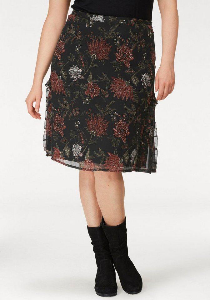 Boysen´s Sommerrock mit Rüschendetails | Bekleidung > Röcke > Sommerröcke | Schwarz | Boysen´s