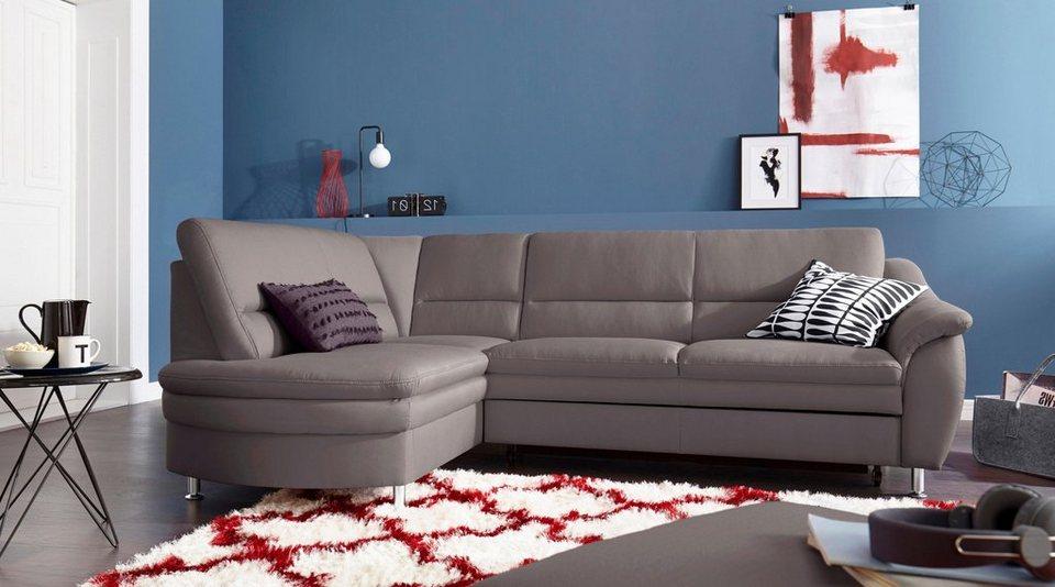 sit more polsterecke mit federkern wahlweise mit bettfunktion und schubkasten ottomane links. Black Bedroom Furniture Sets. Home Design Ideas